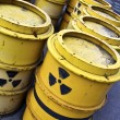 Radioactive tuns and toxic waste — Stock Photo #10470468