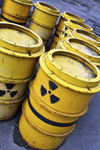 Radioactive tuns and toxic waste — Stock Photo