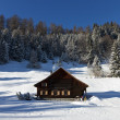 Log cabin in winter — Stock Photo #10487440