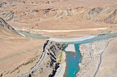 Confluence of rivers — Stock Photo