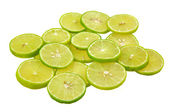 Slices of lime, lemon — Stock Photo