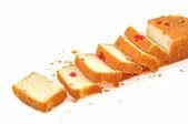 Slices of bread cake — Stock Photo