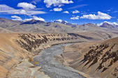 Dry river bead in barren himalaya — Stock Photo