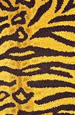 虎皮印花的地毯 — 图库照片