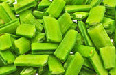 Chopped pieces of cluster bean — Stock Photo