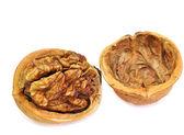 Split shell of walnut — Stock Photo