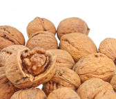 Open shell of walnut — Stock Photo