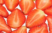 Sliced pieces of strawberry — Stock Photo