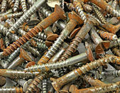 Old rusted screws — Stock Photo