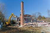 House Demolition 2 — Stock Photo