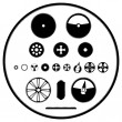 A set of gears — Stock Vector