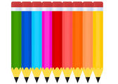 Set of crayons — Stock Vector