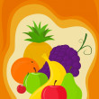 Background with fruit — Stock Vector