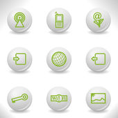 Grey balls — Stock Vector