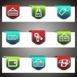 Color vector icons set. Vector navigation template — Vettoriali Stock