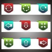 Barevné vektorové ikony nastavit. vektorové navigační šablona — Stock vektor