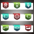 Color vector icons set. Vector navigation template — Stock Vector