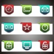 Color vector icons set. Vector navigation template - Stock Vector