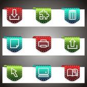 Conjunto de ícones do vetor de cor. modelo de navegação de vetor — Vetorial Stock