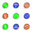 Royalty-Free Stock Vectorafbeeldingen: Glossy icon set