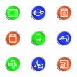 Glossy icon set — Stockvektor #10613405