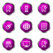 Glossy icon set — Vettoriale Stock #10620371