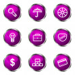 glossy Icon-set — Stockvektor
