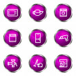 Royalty-Free Stock Vector Image: Glossy icon set