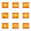 Royalty-Free Stock Vektorfiler: Glossy icon set