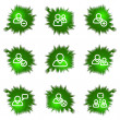 Icons set. Green hole — Stock Vector