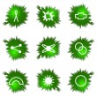 Icons set. Green hole — Stock Vector #10626743