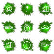 Stock Vector: Icons set. Green hole