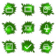 Icons set. Green hole - Stock Vector