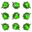 Royalty-Free Stock Vector Image: Icons set. Green hole