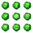 Glossy icon set — Stockvector #10629944