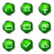 Glossy icon set - Imagen vectorial