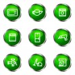 Glossy icon set — Stock Vector #10629990