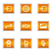 Conjunto de iconos brillante — Vector de stock
