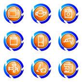 Sada lesklý ikon — Stock vektor