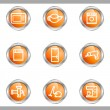 Glossy icon set — Stock Vector #10630405