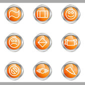 Glossy icon set — Stock Vector