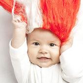 Cheerful little supporter. — Stock Photo