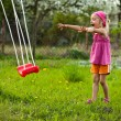 Stock Photo: Play with swing.
