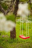 An empty swing. — Stock Photo