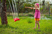 Play with swing. — Stock Photo