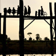 Stock Photo: U Bein Bridge, Mandalay, Burma