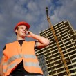 Construction supervisor. — Stock Photo