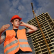 Construction supervisor - Foto Stock