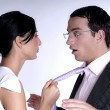 Seducing the boss — Stock Photo