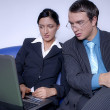Young couple with laptop — Stock Photo #10328665